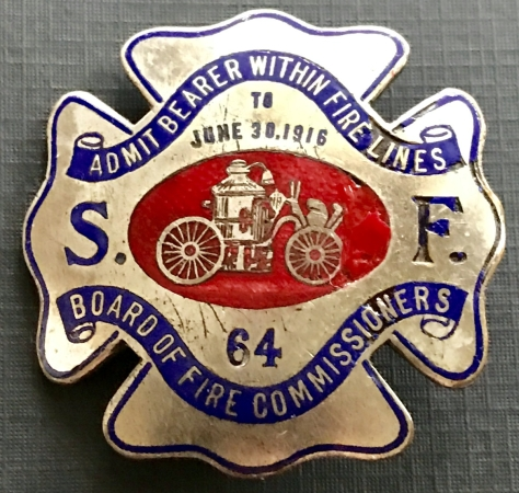 San Francisco Fire LInes Pass 1916.