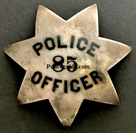 Oakland Police badge #85 worn by Michael Joseph O'Reilly.